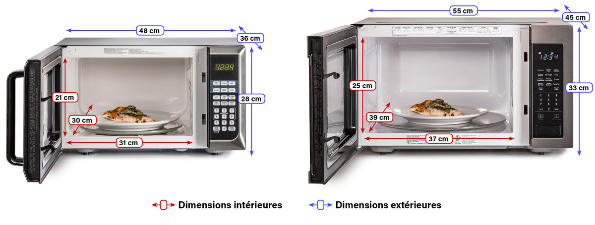 dimensions-fours-micro-ondes