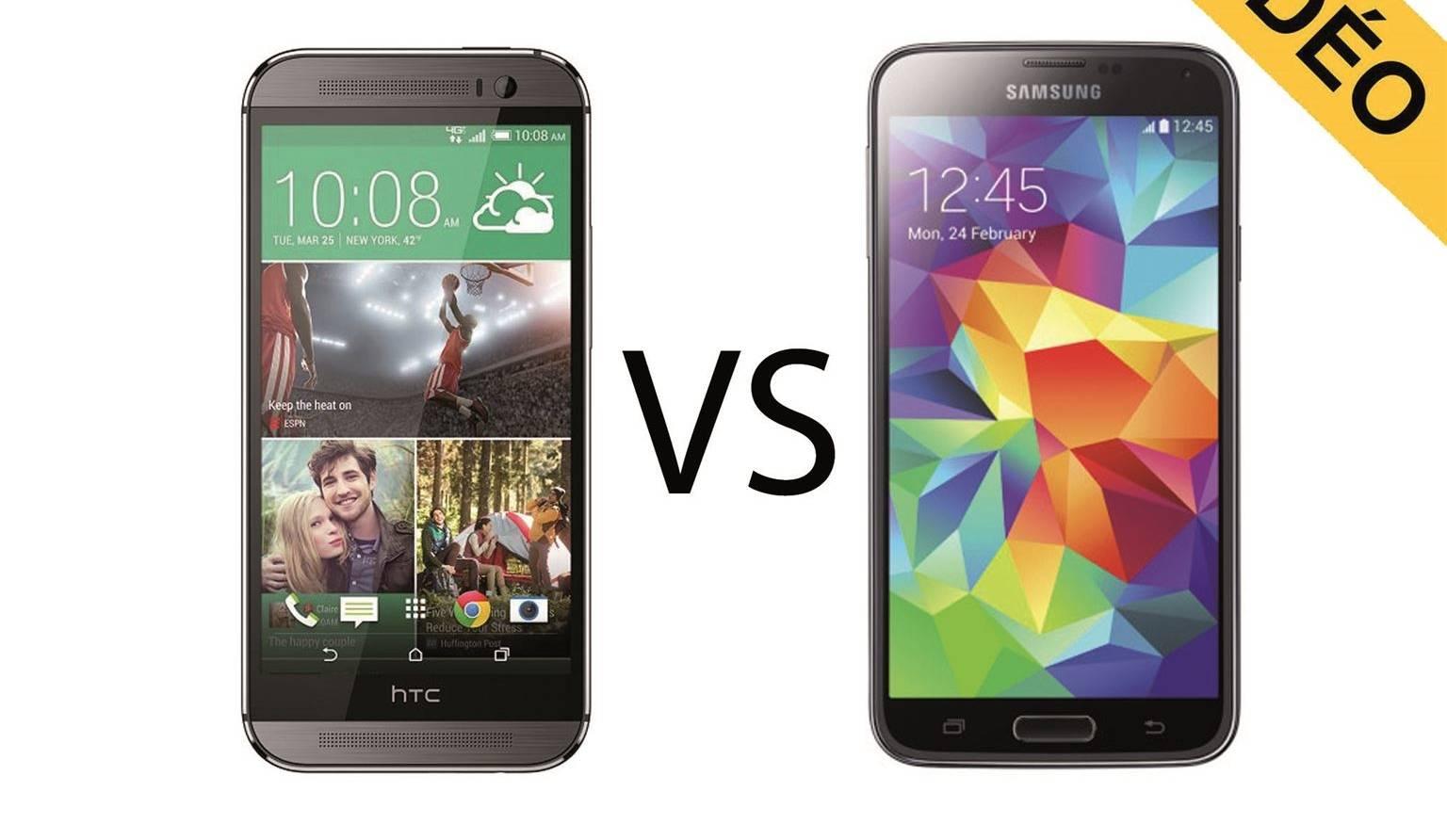 Comparatif video HTC One (M8) vs Samsung Galaxy S5