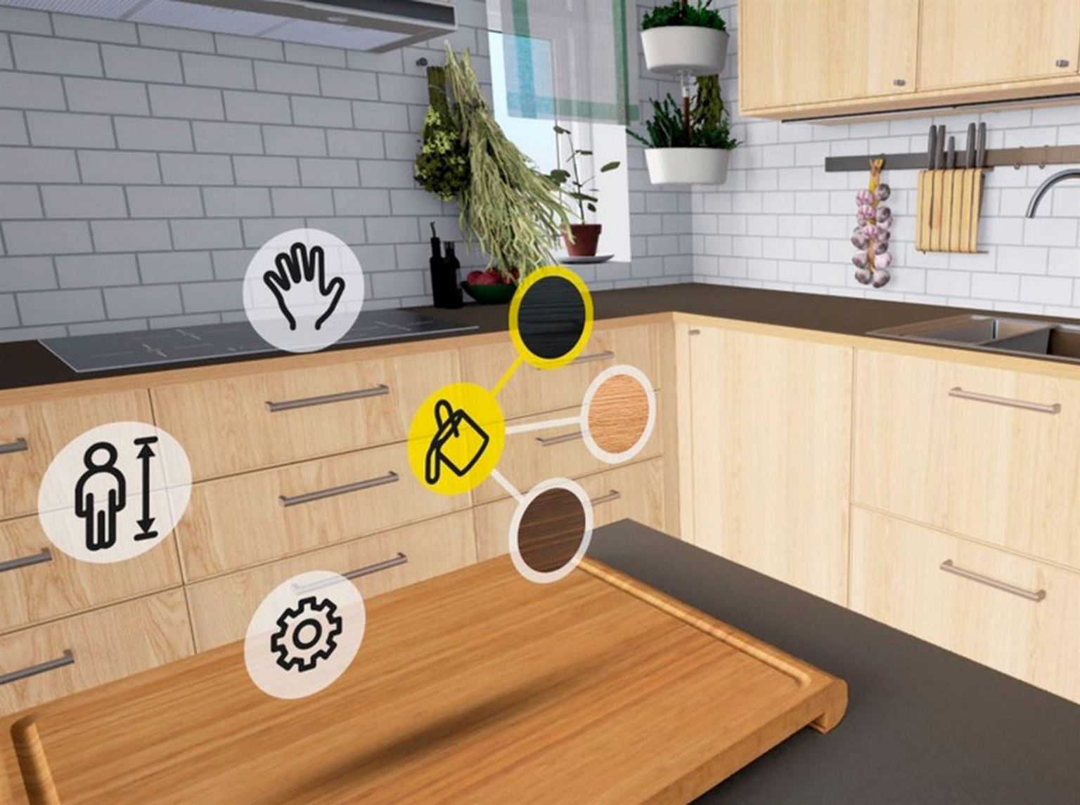 des cuisines ikea en r alit virtuelle prot gez. Black Bedroom Furniture Sets. Home Design Ideas