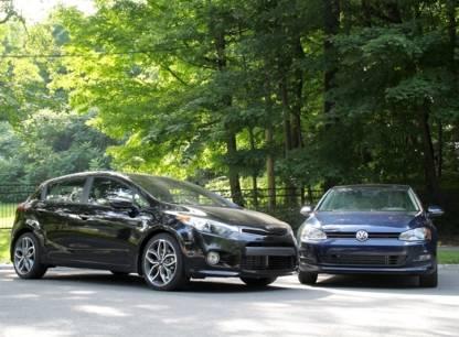 Essai comparatif - Volkswagen Golf CL et Kia Forte5 SX turbo