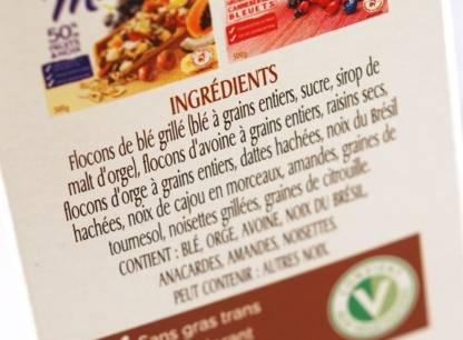 Décrypter la liste des ingrédients sur une étiquette