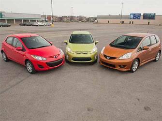 Essai sur route: 3 sous-compactes Honda Fit, Ford Fiesta et Mazda 2