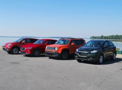 Essai - Petits VUS: Mazda CX-3, Honda HR-V, Jeep Renegade et Fiat 500X