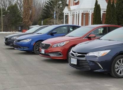 Essai - Toyota Camry, Hyundai Sonata, Mazda6 et Chrysler 200