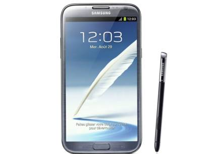 Galaxy Note II entre telephone et tablette