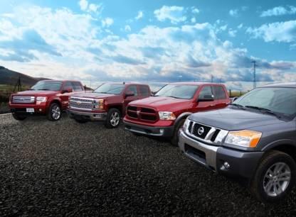 Essai comparatif 4 camionnettes Ford F-150, Chevrolet Silverado, Ram 1500 et Nissan Titan