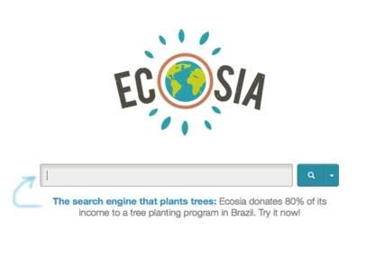 Ecosia le moteur de recherche qui plante des arbres