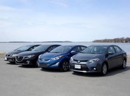 Essai comparatif: quatre compactes Honda Civic, Mazda 3, Toyota Corolla et Hyundai Elantra