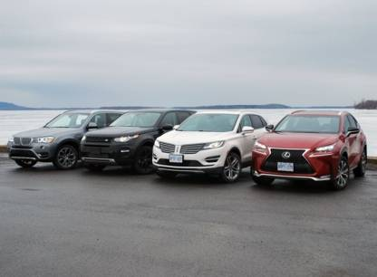 Essai - BMWX3, Land Rover Discovery Sport, Lexus NX 200t et Lincoln MKC