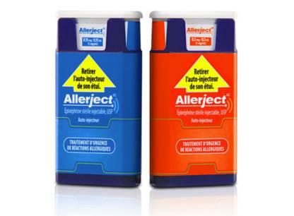 Rappel de tous les auto-injecteurs d'épinéphrine Allerject vendus au Canada