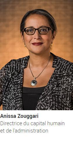 ZOUGGARI Anissa, directrice du capital humain et de l'administration