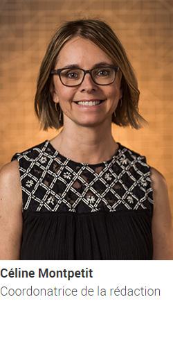 MONTPETIT Céline, journaliste et adjointe à la rédaction