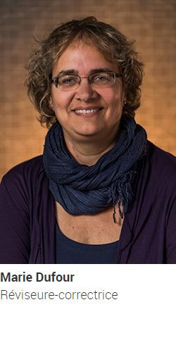 DUFOUR Marie, réviseure-correctrice