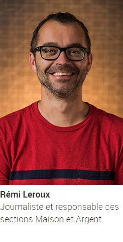 LEROUX Rémi, journaliste et responsable des sections Maison et Argent