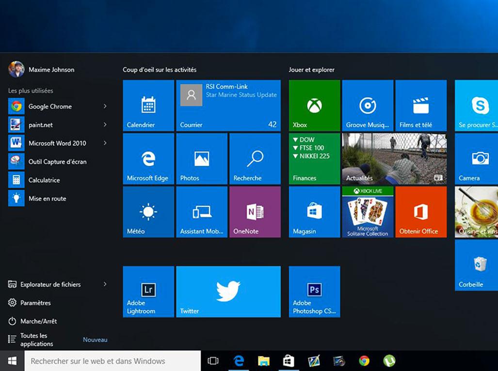 Valuation le syst me d 39 exploitation windows 10 for Bureau windows 10